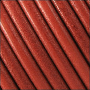 5mm Round Portuguese Leather DISTRESSED ORANGE - per 25M spool