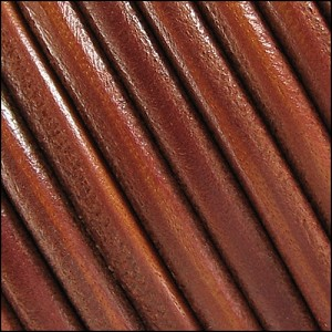 5mm Round Portuguese Leather WHISKEY - per 10 feet