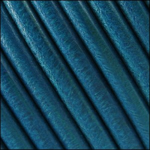 5mm Round Portuguese Leather COBALT BLUE - per 10 feet