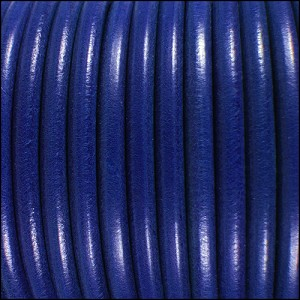 5mm Round Premier Leather ELECTRIC BLUE - per 20m SPOOL