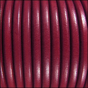 5mm Round Premier Leather RUBY - per 20m SPOOL