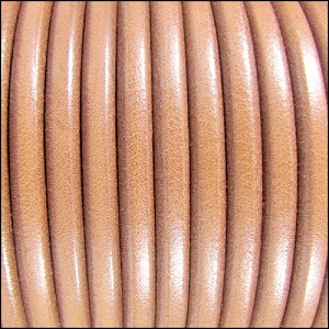 5mm Round Premier Leather NATURAL - per 20m SPOOL