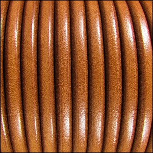 5mm Round Premier Leather HAZELNUT - per 20m SPOOL