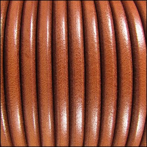 5mm Round Premier Leather WHISKEY - per 20m SPOOL