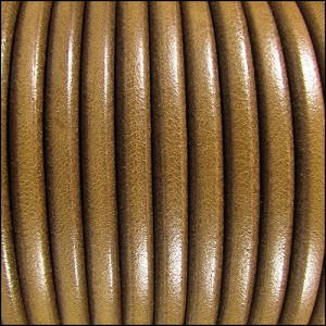 5mm Round Premier Leather TAUPE - per 20m SPOOL