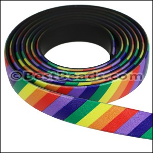 10mm flat FANTASY band RAINBOW - per 1 meter