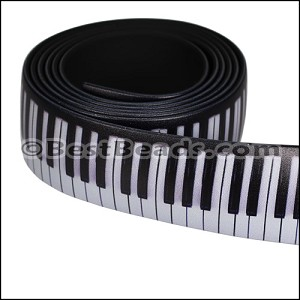 25mm Flat FANTASY band PIANO KEYS - per 1 meter