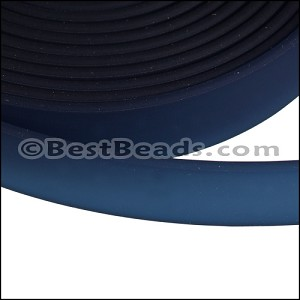 10mm flat JELLY band NAVY BLUE - per 2 meters