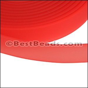 10mm flat JELLY band CANDY RED - per 2 meters