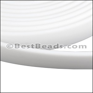 10mm flat JELLY band WHITE - per 2 meters