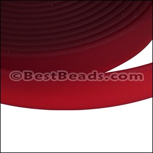 10mm flat JELLY band RED - per 2 meters