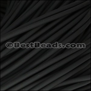 3mm SOLID Round PVC cord BLACK - per 2 meters