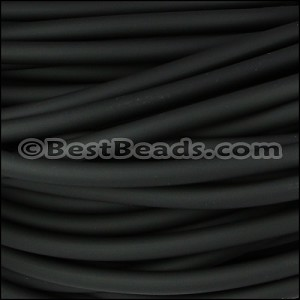 5mm SOLID Round PVC cord BLACK - per 2 meters