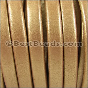 Regaliz® 4.5mm leather METALLIC GOLD - per 10m SPOOL