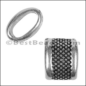 Regaliz® 4.5mm LARGE DOTS spacer ANT. SILVER - per 10 pieces