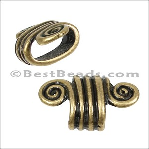 Regaliz® 4.5mm SPIRAL spacer ANT. BRASS - per 10 pieces