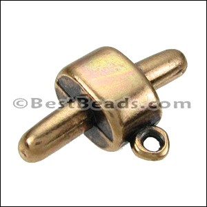 Regaliz® CHARM CONNECTOR clasp ANT BRASS - per 10 pieces