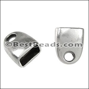 Regaliz® STRAIGHT END clasp ANT. SILVER - per 10 pieces