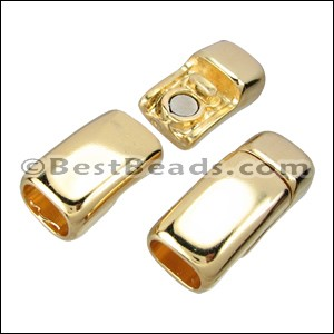 Regaliz® CHUNKY Magnetic Clasp SHINY GOLD - per 10 clasps