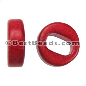 Regaliz® PLAIN ceramic bead RED - per 10 pcs
