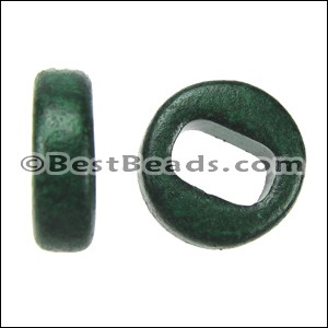 Regaliz® PLAIN ceramic bead DARK GREEN - per 10 pcs