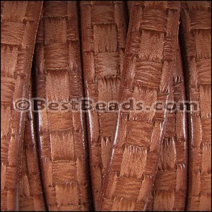 Regaliz® Dakota WOVEN leather CHESTNUT - per 1 meter