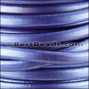 Regaliz® Leather Oval METALLIC AMETHYST- per 25m SPOOL