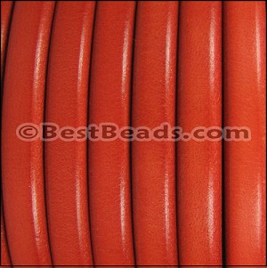Regaliz® Leather Oval MATTE ORANGE - per 1 meter