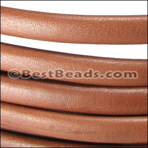 MINI Regaliz® Leather Oval PLAIN  TAN per 10m SPOOL
