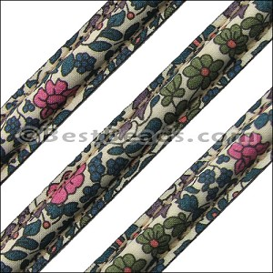 MINI Regaliz® FLOWER fabric olive green daisy - per 1 meter