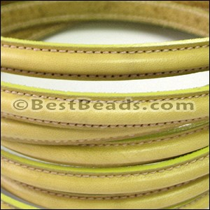 MINI Regaliz® Leather Oval STITCHED CHARTREUSE GREEN - per 1 meter