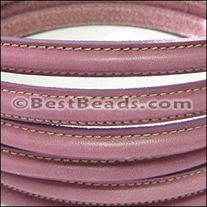 MINI Regaliz® Leather Oval STITCHED ORCHID PINK - per 1 meter