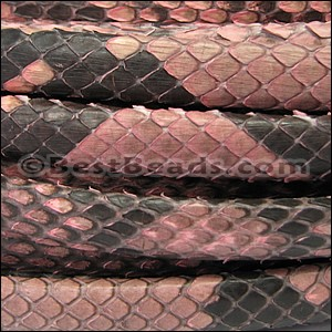 Mini Regaliz® PYTHON leather SALMON - per 10m SPOOL
