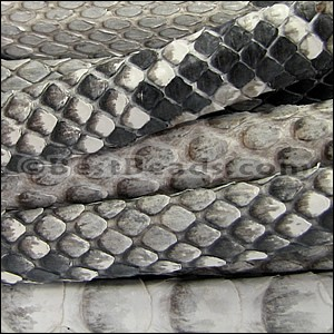 Mini Regaliz® PYTHON leather NATURAL GREY - per 10m SPOOL