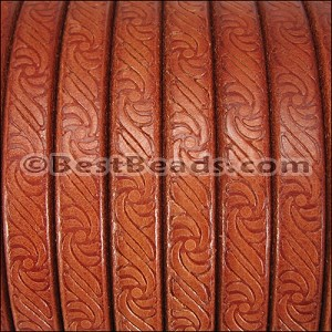 Regaliz® EMBOSSED Leather TAN - per 10m SPOOL