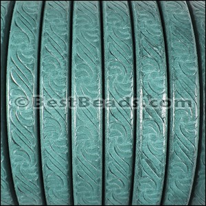 Regaliz® EMBOSSED Leather TURQUOISE - per 10m SPOOL