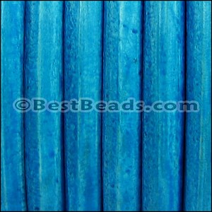 Regaliz® Leather Oval DISTRESSED TURQUOISE - per 1 meter