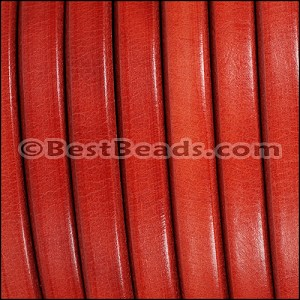 Regaliz® Leather Oval MATTE RED - per meter