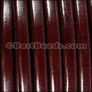 Regaliz® Leather Oval BORDEAUX - per 1 meter