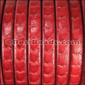 Regaliz® SCALES Leather RED - per 2 meters