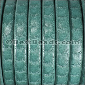 Regaliz® SCALES Leather TURQUOISE - per 10m SPOOL