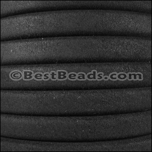 Regaliz® SUEDE Leather  BLACK - per 10m SPOOL