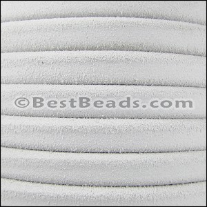 Regaliz® SUEDE Leather  WHITE - per 10m SPOOL