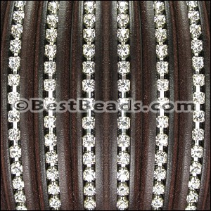 Regaliz® Leather Oval CRYSTAL BROWN - per 1 meter