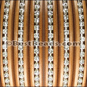 Regaliz® Leather Oval CRYSTAL CAMEL - per 1 meter
