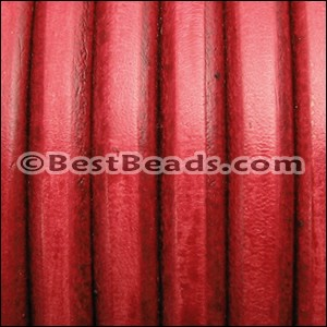 Regaliz® Leather Oval DISTRESSED RED - per 1 meter