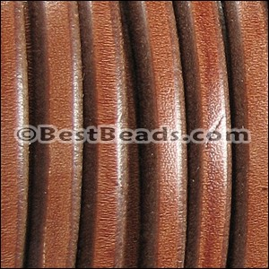 Regaliz® Leather Oval TOBACCO - per meter