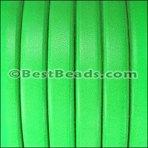 Regaliz® Leather Oval NEON GREEN - per 1 meter