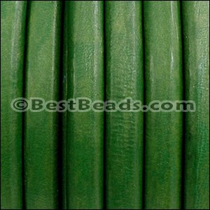 Regaliz® Leather Oval GRASS GREEN - per 1 meter