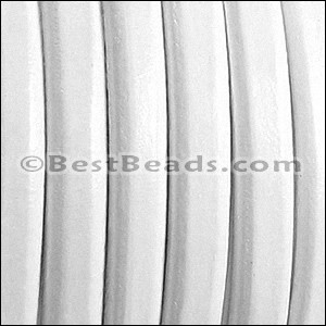 Regaliz® Leather Oval MATTE WHITE - per 10m SPOOL